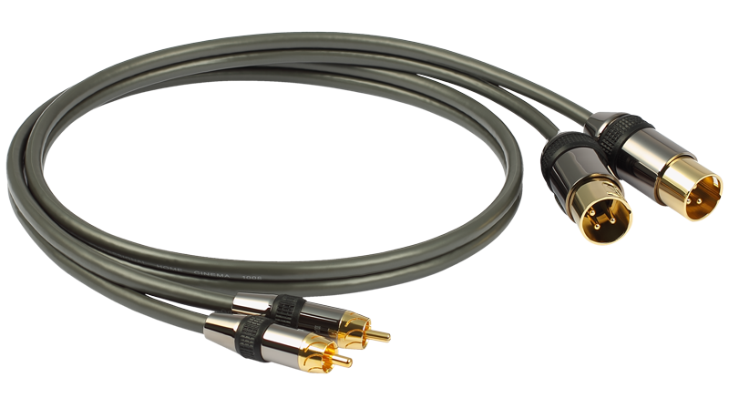 Goldkabel Profi Cinch auf XLR Stereo 1,0m